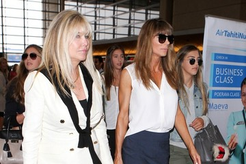 Jennifer Flavin Sylvester Stallone and Jennifer Flavin are Seen at LAX