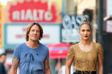 Jennifer Lopez Keith Urban 'American Idol' Judges Busy on Set