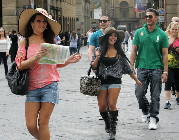 Jenni+Farley in Jersey Shore Cast Goes Shopping in Central Florence 2