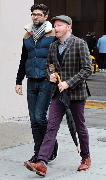 Jesse Tyler Ferguson and Justin Mikita Out for Brunch