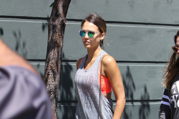 Jessica Alba Jessica Alba Heads to Her Cycle Class