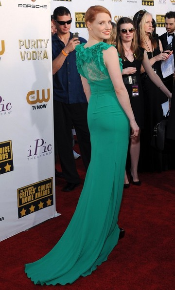 Jessica Chastain - Arrivals at the Critics' Choice Movie Awards