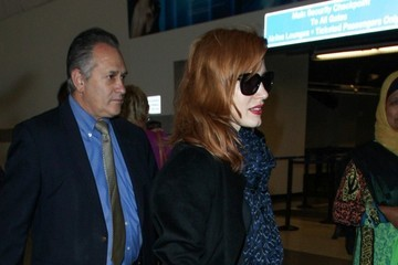 Jessica Chastain Jessica Chastain Arrives at LAX