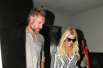 Jessica Simpson Jessica Simpson and Eric Johnson Spotted at LAX