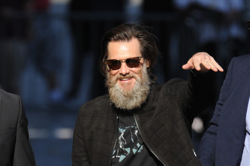 Jim Carrey Jim Carrey and His Beard Spotted on the Set of 'Jimmy Kimmel Live!'