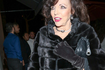 Joan Collins Joan Collins Outside Craig's Restaurant In West Hollywood