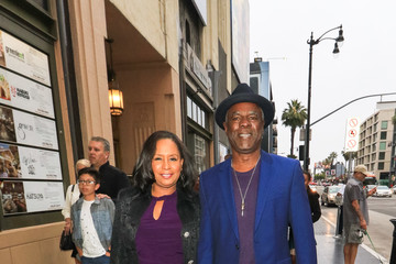 Joann Allen Glynn Turman Outside Pantages Theatre In Hollywood