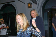 Joe Walsh and Marjorie Bach are seen in Los Angeles, California.