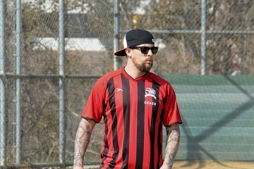 Joel Madden Joel Madden Goes to Sparrow's Soccer Game