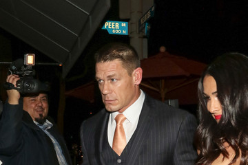 John Cena Nikki Bella John Cena and Nikki Bella Are Seen Outside Craig's Restaurant