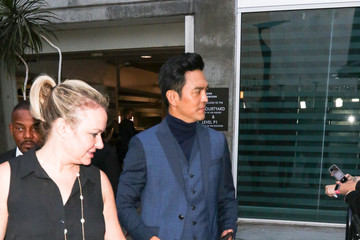 John Cho John Cho Outside ArcLight Theatre In Hollywood