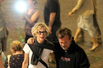 John Mellencamp John Mellencamp and Meg Ryan at the Spanish Steps