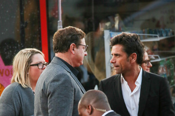 John Stamos Celebrity Candid Arrivals at 'Mother's Day' Premiere