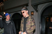 Johnny Manziel outside Craig's Restaurant in West Hollywood