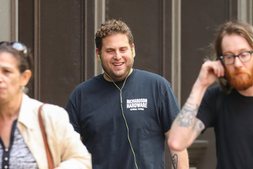 Jonah Hill Jonah Hill Goes Out With His Dog Carmela