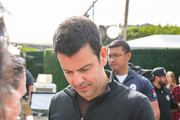 Jordan Knight is seen arriving at Extra TV Show in Los Angeles, California.