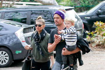 Josh Duhamel Fergie and Josh Spend Time with Son Axl