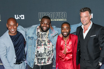 Josh Duhamel Bokeem Woodbine Premiere Of USA Network's 'Unsolved: The Murders Of Tupac And The Notorious B.I.G.'
