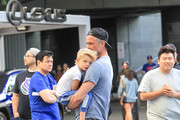 Josh Duhamel and his son Axl Jack Duhamel are seen in Los Angeles, California on April 26, 2019.