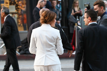 Julia Roberts Celebrity Candid Arrivals at 'Mother's Day' Premiere