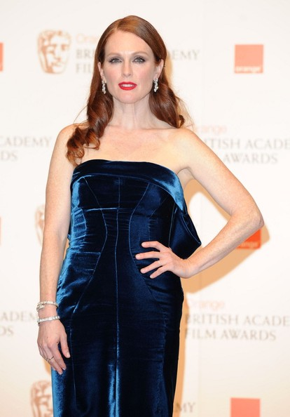 Julianne Moore The press room at the 2011 BAFTA awards ceremony held at the Royal Opera House.