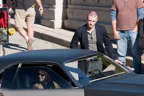 "Justin Timberlake and Amanda Seyfried film the sci-fi film ""Now"" on location in Los Angeles."