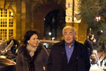 Anne Sinclair Dominique Strauss-Kahn Out with His Wife