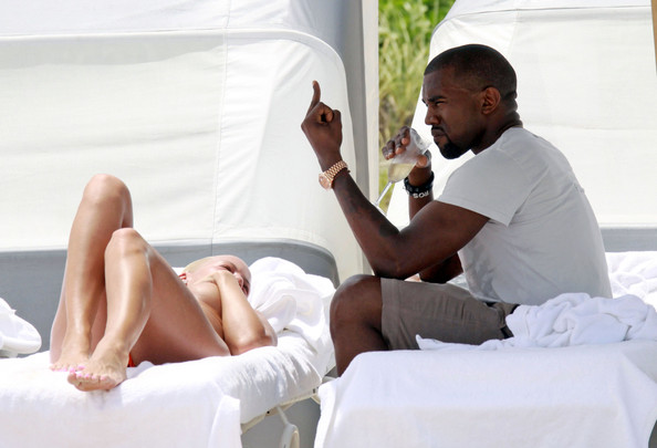 kanye west and amber rose beach. Kanye West and Amber Rose in