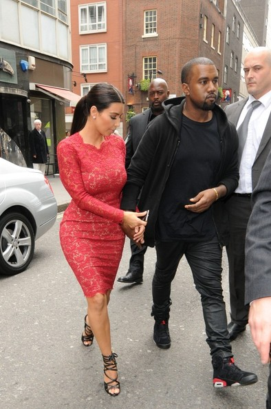 Kanye West - Kim Kardashian and Kanye West Together in London 2