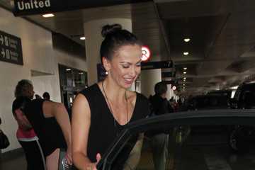 Karina Smirnoff Karina Smirnoff and Jason Adelman Are Seen at LAX