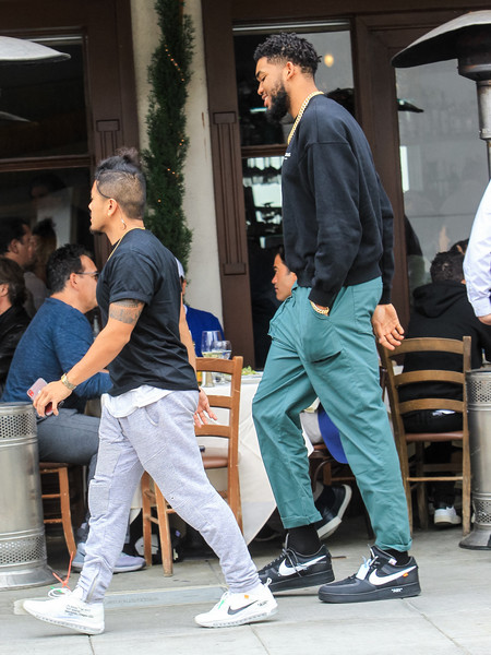 Karl-Anthony Towns In Beverly Hills