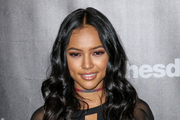 Karrueche Tran Celebrities Arrive at the 'Fallout 4' Launch Party
