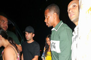 Karrueche Tran And Victor Cruz Outside Delilah Nightclub In West Hollywood