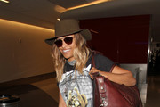 Kat Graham is seen at LAX