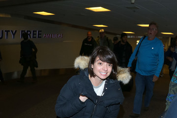 Kate Micucci Celebrities at the Salt Lake City Airport