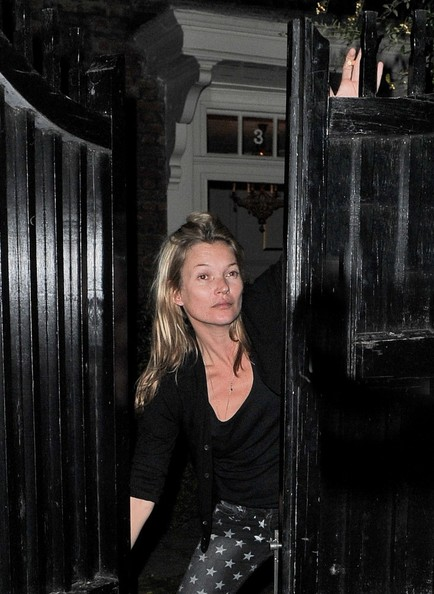 Kate Moss Hangs Out in London