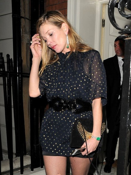 Kate Moss Leaves Mark's Club
