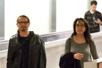 Katey Sagal Kurt Sutter and Katey Sagal at LAX