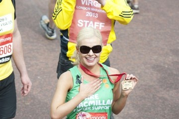 Katherine Jenkins Celebs at the Virgin London Marathon 2