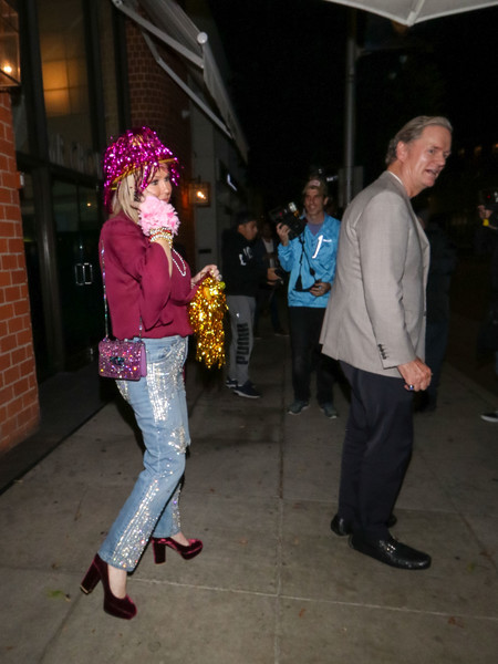 Kathy Hilton Outside Billy Idol's Birthday Party At Mr Chows Restaurant