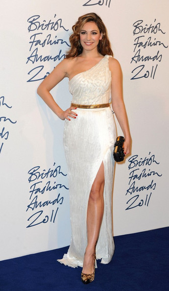 Kelly Brook The 2011 British Fashion Awards at The Savoy on the Strand.