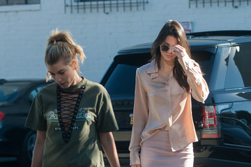 Kendall Jenner Kendall Jenner and Hailey Baildwin Shop at Fred Segal