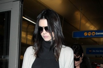 Kendall Jenner Kris and Kendall Jenner Arrive at LAX