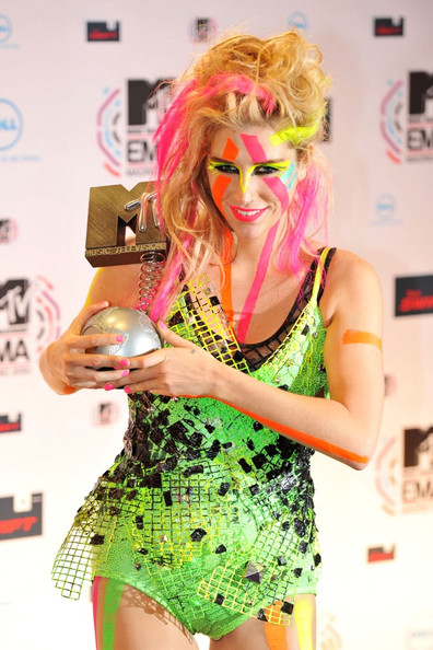 Kesha The 2010 MTV European Video Awards.