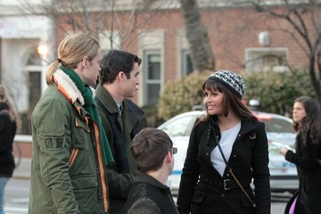 Kevin McHale Chord Overstreet Stars on the Set of 'Glee'