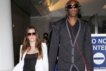 Khloe+Kardashian in Khloe Kardashian and Lamar Odom at LAX