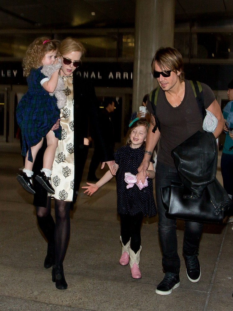 Keith Urban In Nicole Kidman And Family At Lax Part 2