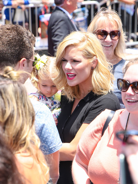 Kimberly Caldwell Is Seen Outside The 'Hotel Transylvania 3' Premiere At Regency Village Theatre