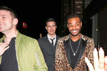 King Bach Robbie Amell and King Bach Outside TAO Restaurant