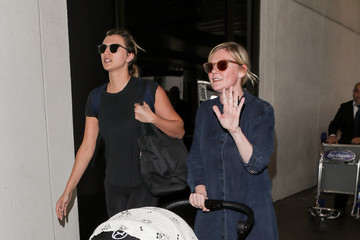 Kirsten Dunst Kirsten Dunst And Her Son At LAX International Airport